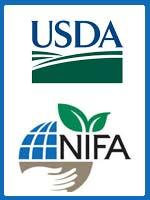 Logos for USDA and NIFA